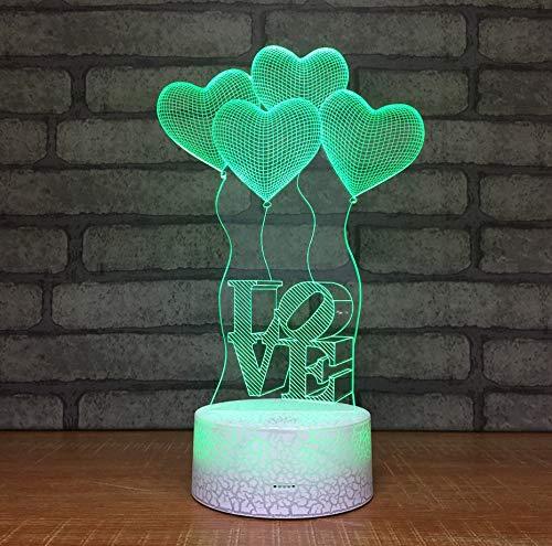 ed Nachtlicht Bunte Popcorn Luft Valentinstag Geschenk 3D Leuchten Kinderzimmer Led Lichter Lampen ()