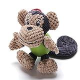 ubest Hundespielzeug aus Plüsch mit starken Kugeln Hund Backenzahn Äußerung Spielzeug, Affe
