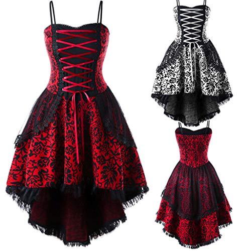 Cinnamou Vestido Mujeres Disfraz Gotico Mujer Blusa Vendaje Vestidos de Encaje Irregulars Trajes Elegantes Ceremonia