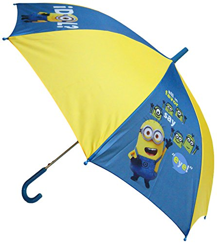 "Minions – Paraguas ""1 in a Minion"" de 48 cm, color azul y amarillo"