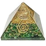 Aventurina Orgonite Orgón Pirámide Reiki cura cristalina Arte generador de energía