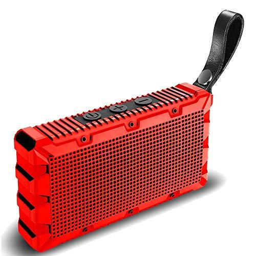 SXRL Mini Wasserdicht Lautsprecher Bluetooth, 5W tragbare außen Speaker, IP67, mit Mikrofon, bass, 15m Bluetooth Reichweite, 8 Stunden Spielzeit, Bad, Strand, Pool, Rot - Fünf Light Kronleuchter Lampe