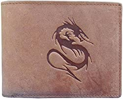 Tamanna Men Tan Genuine hunter Leather Wallet (8 Card Slots)