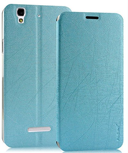Rain Flip Cover Case For Micromax Yu Yureka - Blue - Free Shipping
