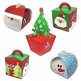 Geschenkschachteln Geschenkboxen Geschenkverpackung für Weihnachten | 5er Set | Premium Hochglanz-Farbdruck