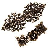 2 Pezzi Fermaglio per Capelli in Metallo Stile Vintage Color Bronzo Rose Accessorio