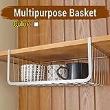#3: TIED RIBBONS Under shelf Rack Basket Organizer Basket Organizer for Almirah cup holder kitchen cupboard(Large Size)