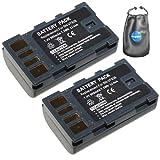 amsahr Digitalkamera und Camcorder-Akku Ersatz für JVC BN-VF808, BN-VF808U, BN-VF815 Pack-2 - Inklusive Objektiv Zubehör Pouch