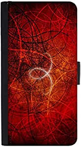 Snoogg Abstract Red Design Designer Protective Phone Flip Back Case Cover For Xiaomi Redmi Note 3