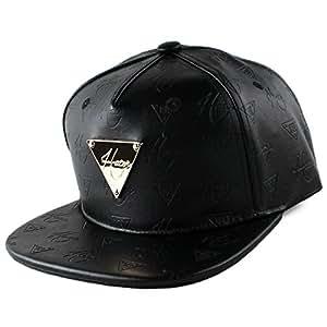 Hater Leather Monogram Snapback Hat Casquette