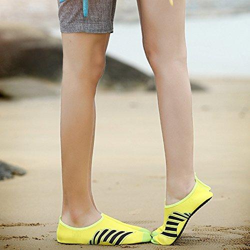 Xinyi Aqua Water scarpe spiaggia nuoto, asciugatura rapida slip on yoga scarpe di calzini per unisex, Panno, A20, 3XL43-44 A4