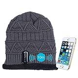 GBSELL Warm Hat Wireless Bluetooth Smart Cap Headset Headphone Speaker Mic BK