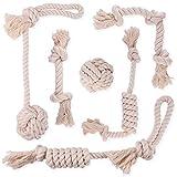 6pc Welpen-Kauspielzeug Hund Seil, Yangbaga Hundespielzeug Set Robustes Hundespielzeug Hund Seil Spielzeug extra Dick Strapazierfähiger Qualität für kleine und mittlere Hunde