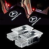 HUAYIN 2 Stück Autotür Logo Einstiegsbeleuchtung Projektion Licht Türbeleuchtung Projektor Welcome Licht (LE-AMG)