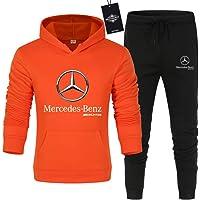 CONVERMPU Uomo e Donna Tute Per Mercedes-Ben.Z A.M.G Pantaloni Sportivi con Cappuccio a Tinta Unita in Due Pezzi Casuale…