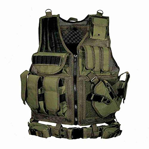 OAREA Military Equipment Airsoft Tactical Vest Hunting Vest for Wargame CS Training Paintball Airsoft Combat Protective Vest (Combat Training-equipment)