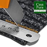Küchenläufer Granada in großer Auswahl | strapazierfähiger Teppich Läufer für Küche Flur uvm. | rutschfester Teppichläufer / Flurläufer für alle Böden ( 80×200 cm Beige ) - 5
