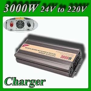 Modifié vague onduleur 3000W 6000W crête DC 24V à 220V AC pour voiture / bateau / véhicule système d'énergie solaire avec fonction de charge de la batterie