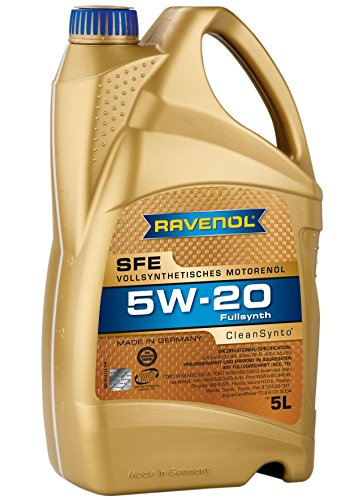 RAVENOL Super Fuel Economy SFE SAE /5 W-20 Vollsynthetisches Motoröl (5 Liter)