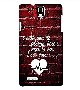 Fuson Designer Back Case Cover for Infocus M330 (I wish you are always here theme)