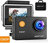APEMAN Sports Action Camera 12MP HD 1080P Waterproof Cam 170 Ultra Wide-Angle Lens with Carrying Case Waterproof Case and Mounting Accessories Kit