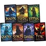 Angie Sage Septimus Heap 7 Books Collection Set RRP: £54.93 (Darke, Syren, Queste, Physik, Flyte, Magyk, Fyre)