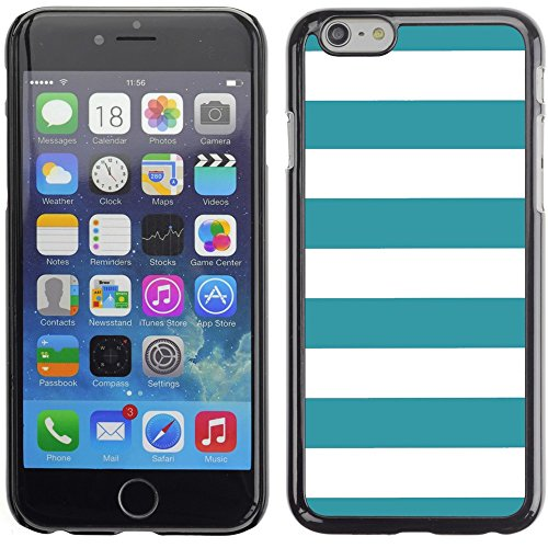 Graphic4You Color Stripes Pattern Design Hard Case Cover for Apple iPhone 6 Plus (Aqua Blue) Türkis
