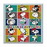 CafePress–Snoopy-you Peut être tout–pour carrelage Dessous de Verre, dessous de boisson, petite Dessous de Plat