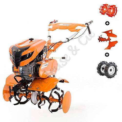 Motoculteur 7 Cv 6 fraises vitesses 2AV - 1AR charrue réversible -...