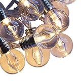 Qbis LED-Lichterkette. Mini Lichterkette Feenlichter 16 Warmweiße LEDs Batteriebetrieben Mit Timer - Klar