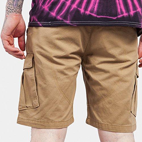 Honghu Nuovo Arrivo Estate Moda Originale Colorato Con Tasca Cargo Pantaloncini Uomo Grigio