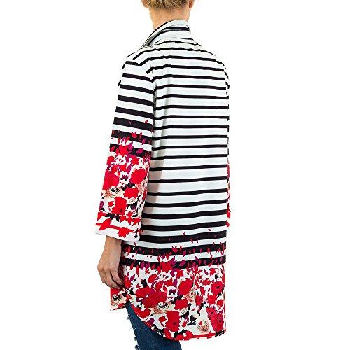 Gemusterte Hemd Tunika Für Damen bei Ital-Design Weiß