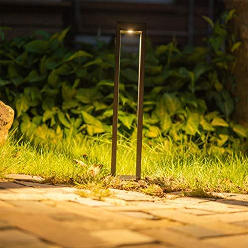 Lámpara LED simple moderna para el césped, al aire libre, nuevo diseño, columna cuadrada, aluminio, impermeable, jardín, comunidad, paisaje, iluminación, jardín, luz