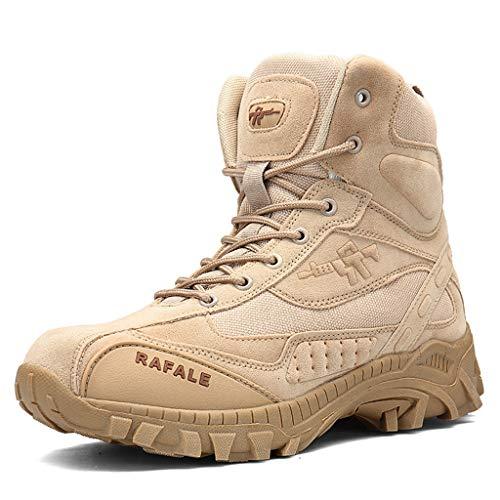aussen Kampfstiefel Herren Military Tactical Stiefel Leichte Anti-Rutsch-Dschungel-Trekking Delta Wandern Schuhe Größe 39-46,Sandcolor,42 ()