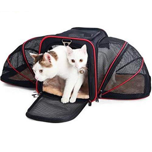 HMWP Trasportino per Cani, Gatti E Cuccioli, Borsa Ripiegabile da Trasporto Airline/Auto per Cuccioli, Animali Domestici,Espandibile E Morbido (M-45 * 28 * 28cm L-47 * 30 × 30 Cm)