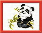 "Riolis HB061 Kreuzstich-Set ""Panda"", Baumwolle, Mehrfarbig, 18 x 15 x 0.1 cm"