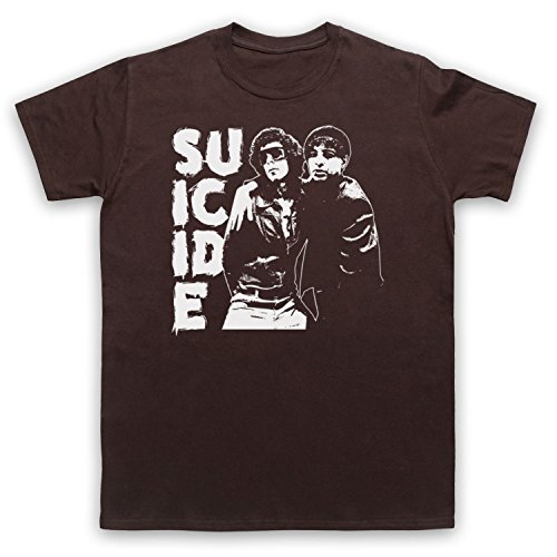 Suicide Musical Duo Band Herren T-Shirt Braun