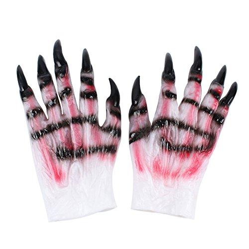 Latex Werwolf Hände Creative Halloween Kostüme Erwachsene Handschuhe Wolf für Halloween Masquerade Party (Wolf Hund Halloween Kostüm)