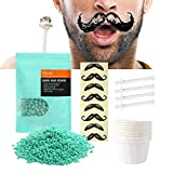 Nose Waxing Kit for Men and Women, Disposable Multi-Purpose Nose Hair Removal Wax with 20 Applicators, Quick and Painless