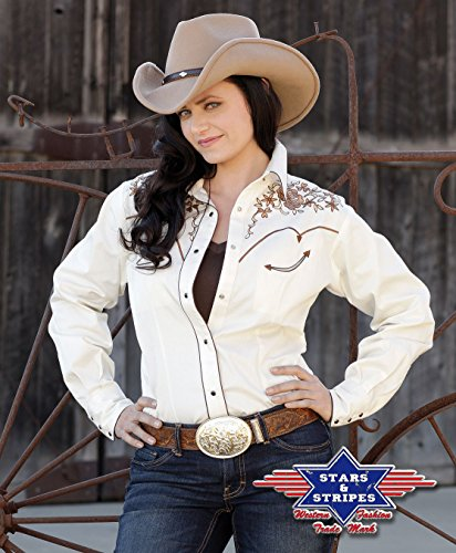 Stars & Stripes Westernbluse »KATY« (XXXL, Beige) (Country Outfits Für Frauen)