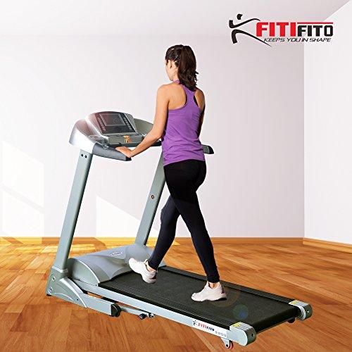 Fitifito 9000 Profi Laufband mit LCD Bildschirm, Klappbar