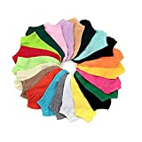 Westeng Lot de 10 Paires Chaussettes en Coton Chaussettes Basses Chaussettes pour Femme