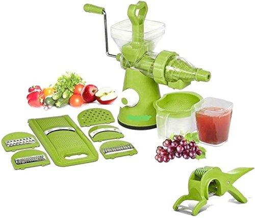 Magikware Fruit Vegetable Advance Hand Juicer, Slicer & Peeler Super Kitchen Combo Set (Green, Set of 11)