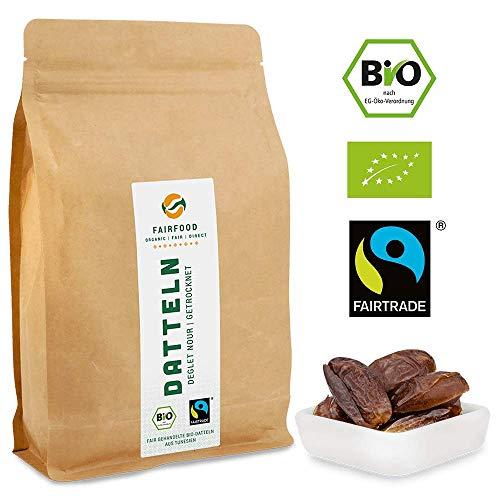 Bio Fairtrade Datteln: Deglet Nour | Getrocknet & Entsteint (1000g)