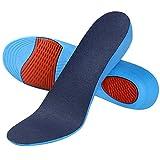 SOUMIT Erhöhung Höhe Einlegesohle | Weich Memory Schaum Schuheinlagen mit Dämpfende Silikon-Gel Sohlen für Alltag Beruf und Schützt Ihre Füße (40/45 EU, Erhöhen3,6CM)