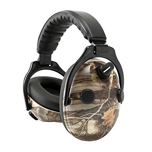 PROTEAR Elektronische Jagd Schießen Gehörschutz, Noise Reduction Sound Verstärkung Elektronische Sicherheit Gehörschutz-NRR 25dB, Professionelle Rauschunterdrückung Kopfhörer für die Jagd (A)