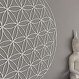 HomeArtDecor | Fleur de la Vie Géométrie Sacrée Art Mural | Chlorure de Polyvinyle...