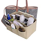 Homelegace Bag in Bag Kulturtaschen Handtaschenordner Innentasche Taschenorganizer Kosmetikorganizer (Beige-1, M)