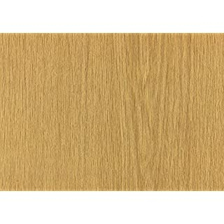 Alkor Sticky Back Plastic (self adhesive vinyl film) Woodgrain Oak Limba Medium 45cm x 2m 380-0041