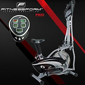 Fitnessform® ZGT® Z10 Cross Trainer 2-in-1 Fitness Elliptical Exercise Bike (New seat...
